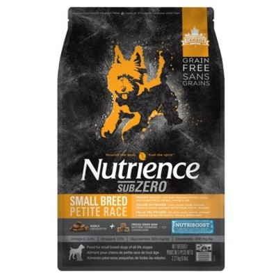 Nutrience - SUBZERO 全犬糧 - 無穀物 凍乾鮮雞肉 (雞、火雞及海魚) 小型犬配方 11lb