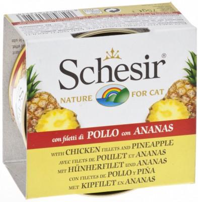 Schesir 水果系列 雞肉菠蘿飯貓罐頭 75g