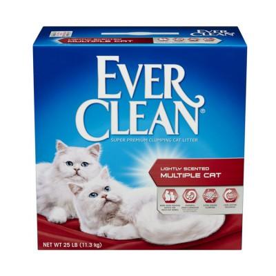 EVER CLEAN 特強芳香配方貓砂-適合多隻貓使用 (有香味) (紅標) 25LB