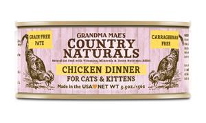 Grandma Mae's Country Naturals 無穀物 雞肉醬煮配方 貓罐頭 5.5 oz