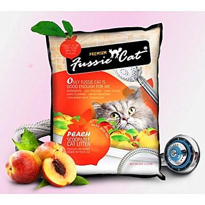 Fussie Cat 礦物貓砂(桃味)