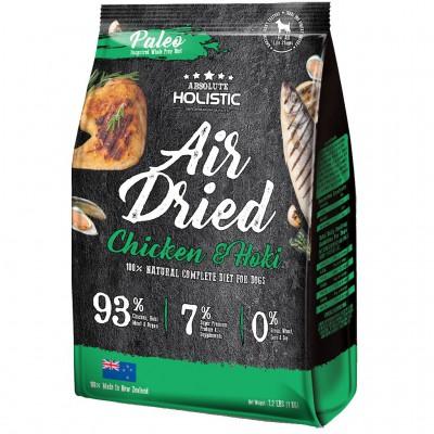 Absolute Holistic Air Dried 超越巔峰鮮食肉片-紐西蘭雞肉+HOKI鱈魚+綠貽貝+牛磺酸 1kg