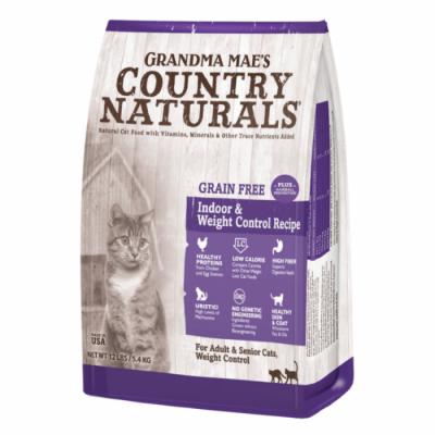 Grandma Mae's Country Naturals 無穀物 體重控制 去毛球室內貓配方 4lb / 12lb