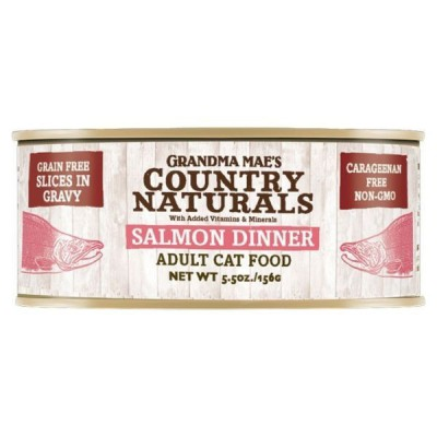 Grandma Mae's Country Naturals 無穀物天然汁煮鮮味三文魚配方貓罐頭 5.5OZ