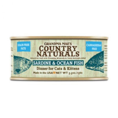 Grandma Mae's Country Naturals 無穀物 沙甸魚深海魚醬煮配方 貓罐頭 5.5 oz