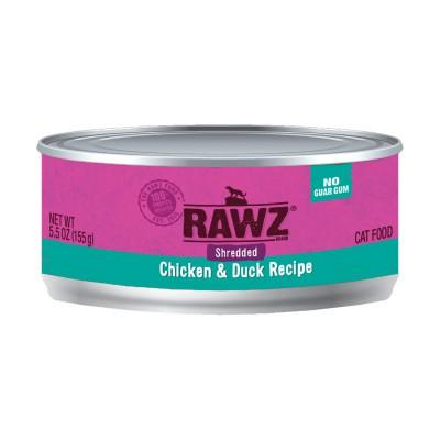RAWZ 雞胸+鴨肉 肉絲主食貓罐頭 5.5oz