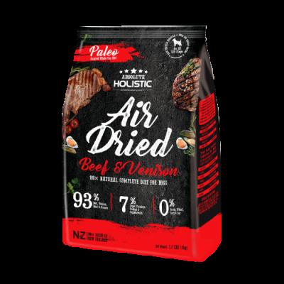 Absolute Holistic Air Dried 超越巔峰鮮食肉片-放牧牛+放牧鹿+綠貽貝+牛磺酸 1kg