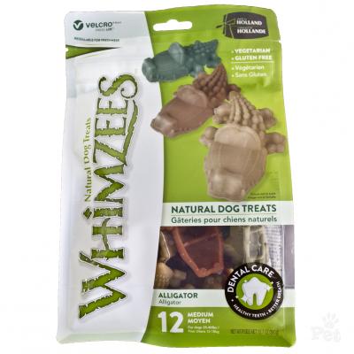 Whimzees 唯潔-中型犬專用鱷魚形潔齒骨12個混色12.7oz