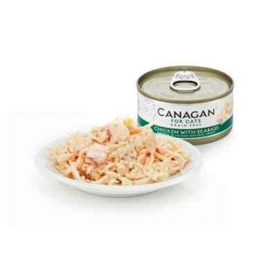 CANAGAN 原之選 無穀物雞肉伴鱸魚貓罐頭 75G